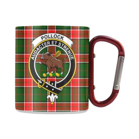 Pollock Modern Tartan Mug Classic Insulated - Clan Badge | scottishclans.co