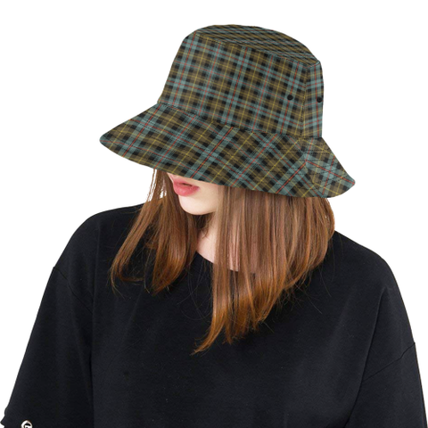 Farquharson Weathered Tartan Bucket Hat for Women and Men K7