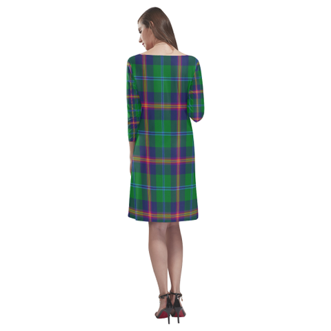 Image of Young Modern Tartan Dress - Rhea Loose Round Neck Dress TH8