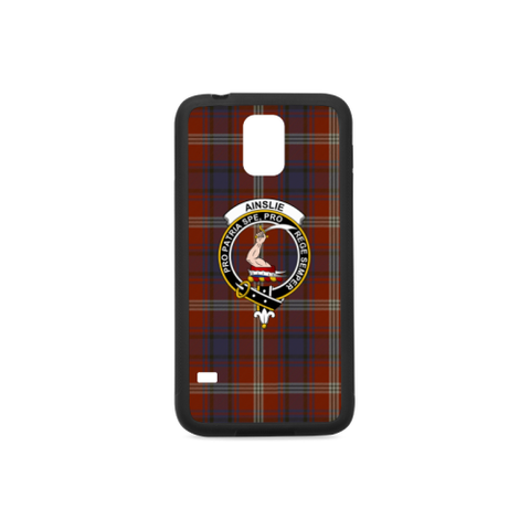 Ainslie Tartan Clan Badge Rubber Phone Case TH8