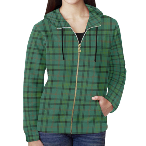 Ross Hunting Ancient Tartan Zipped Hoodie | Special Custom Products