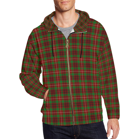 Ainslie Tartan Zipped hoodie | Special Custom Products