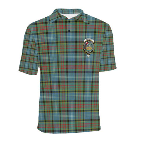 Paisley District Tartan Clan Badge Polo Shirt HJ4