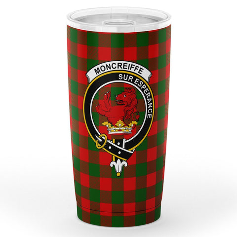 Moncrieffe Tartan Tumbler, Scottish Moncrieffe Plaid Insulated Tumbler - BN