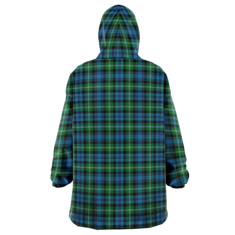 Lyon Clan Snug Hoodie - Unisex Tartan Plaid Back