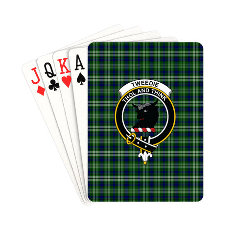 Tweedside District Tartan Clan Badge Playing Card | scottishclans.co