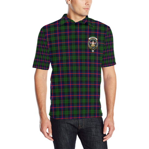Urquhart Modern Tartan Clan Badge Polo Shirt
