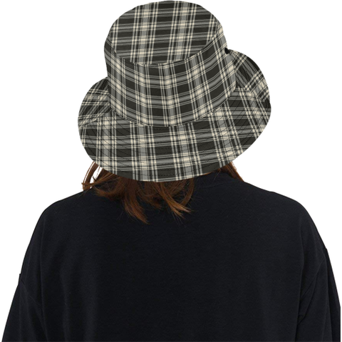 Menzies Black _ White Ancient Tartan Bucket Hat for Women and Men