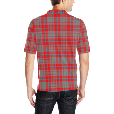 Image of Moubray Tartan Clan Badge Polo Shirt HJ4