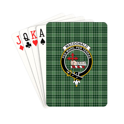 MacDonald Lord of the Isles Hunting Tartan Clan Badge Playing Card | scottishclans.co