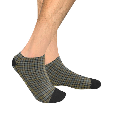 Campbell Argyll Weathered Tartan Ankle Socks | scottishclans.co