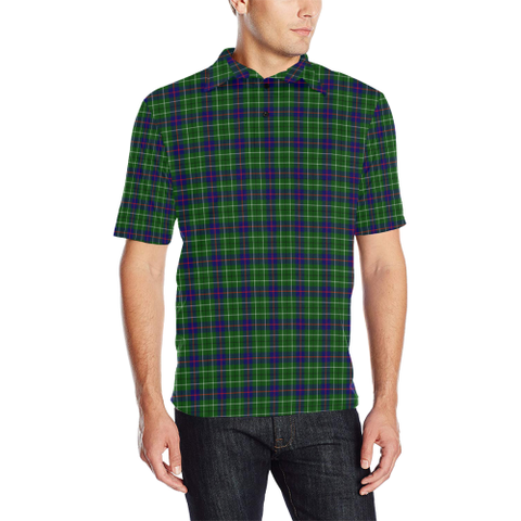 Image of Duncan Modern  Tartan Polo Shirt