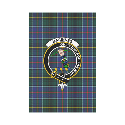 Macinnes Modern Tartan Flag Clan Badge K7