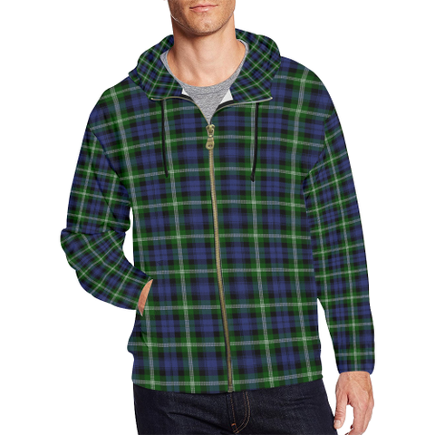 Baillie Modern Tartan Zipped Hoodie | Special Custom Products