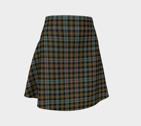 Image of Tartan Flared Skirt - Farquharson Weathered
