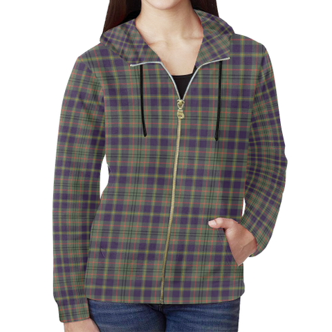Taylor Weathered Tartan Zipped Hoodie | Special Custom Products