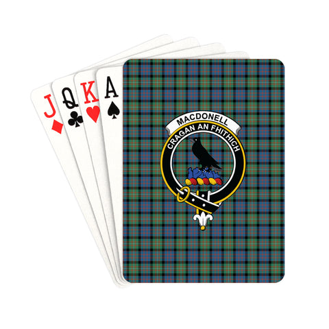 Image of MacDonnell of Glengarry Ancient Tartan Clan Badge Playing Card | scottishclans.co
