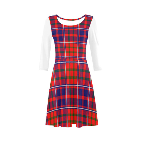 Cameron of Lochiel Modern Tartan 3/4 Sleeve Sundress | Exclusive Over 500 Clans