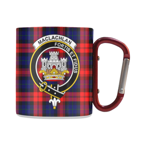 Maclachlan Modern Tartan Mug Classic Insulated - Clan Badge | scottishclans.co