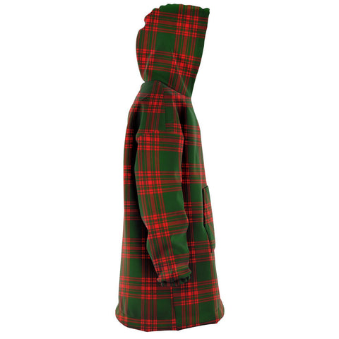 Menzies Green Modern Snug Hoodie - Unisex Tartan Plaid Right