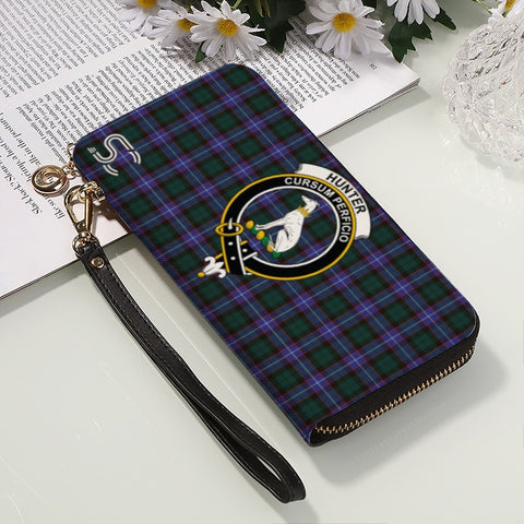 Hunter Modern Crest Tartan Zipper Wallet™