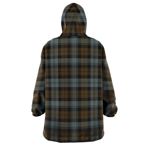 BlackWatch Weathered Snug Hoodie - Unisex Tartan Plaid Back