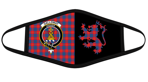 Galloway Red Clan Badge Lion Mask Tartan Version 2 K6