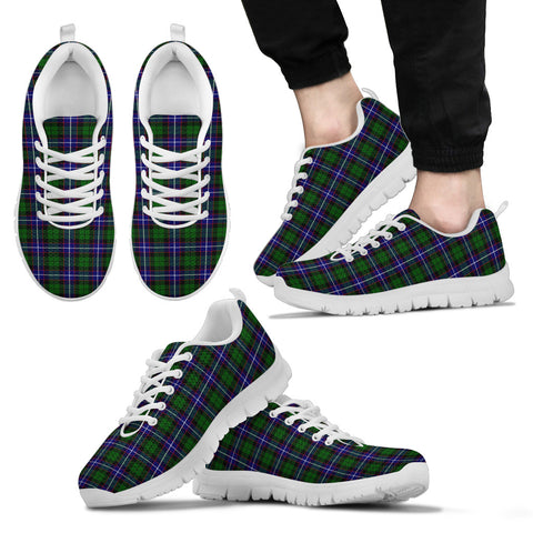 Russell Modern, Men's Sneakers, Tartan Sneakers, Clan Badge Tartan Sneakers, Shoes, Footwears, Scotland Shoes, Scottish Shoes, Clans Shoes