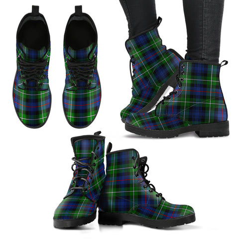 Image of MacKenzie Modern Tartan Leather Boots A9