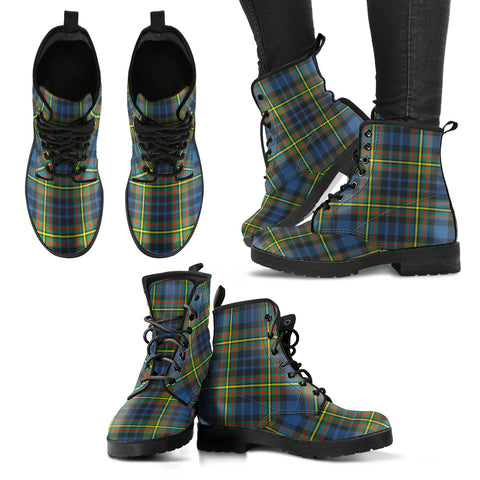 MacLellan Ancient Tartan Leather Boots A9