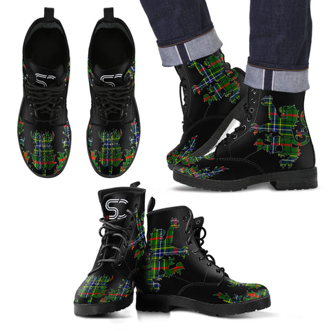 Bisset Tartan Leather Boots Lion And Thistle TH8