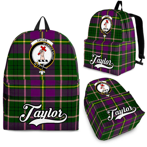 Image of Taylor (or Tailyour) Tartan Clan Backpack | Scottish Bag | Adults Backpacks & Bags