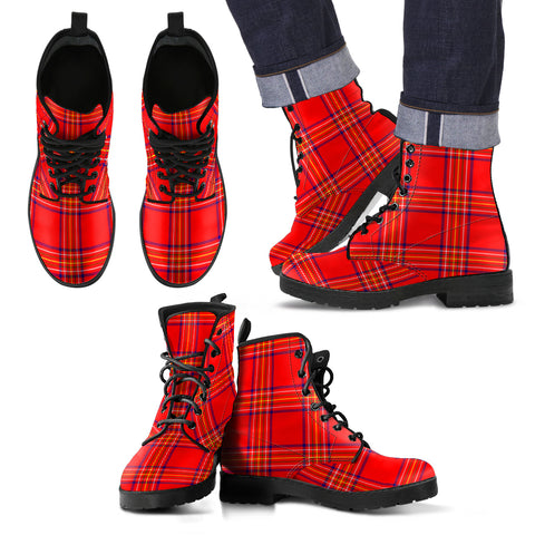 Burnett Modern Tartan Leather Boots Footwear Shoes