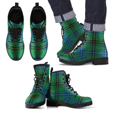 Henderson Ancient Tartan Leather Boots Footwear Shoes