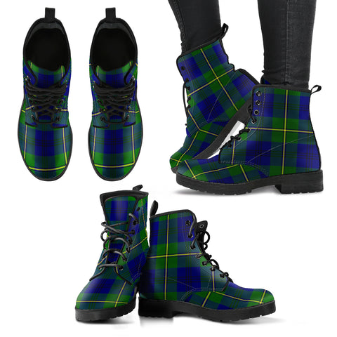 Johnston Modern Tartan Leather Boots