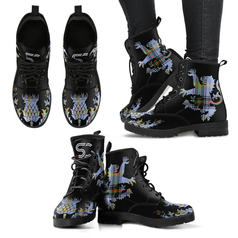 Bell of the Borders Tartan Leather Boots Lion And Thistle