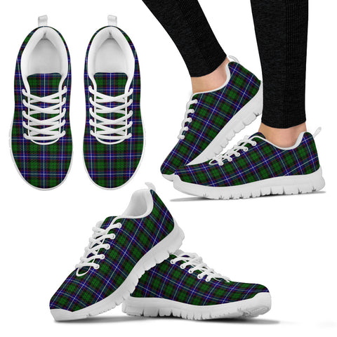Image of Russell Modern, Women's Sneakers, Tartan Sneakers, Clan Badge Tartan Sneakers, Shoes, Footwears, Scotland Shoes, Scottish Shoes, Clans Shoes