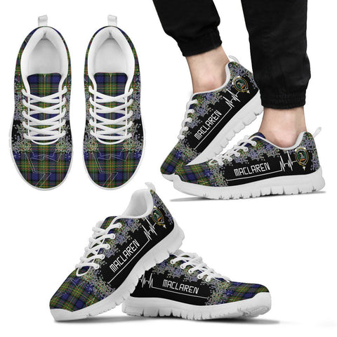 MacLaren Modern Tartan Heartbeat Sneakers | scottishclans.co