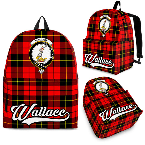 Wallace Tartan Clan Backpack | Scottish Bag | Adults Backpacks & Bags