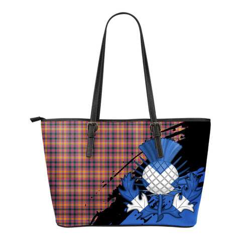 Jacobite Leather Tote Bag Small | Tartan Bags
