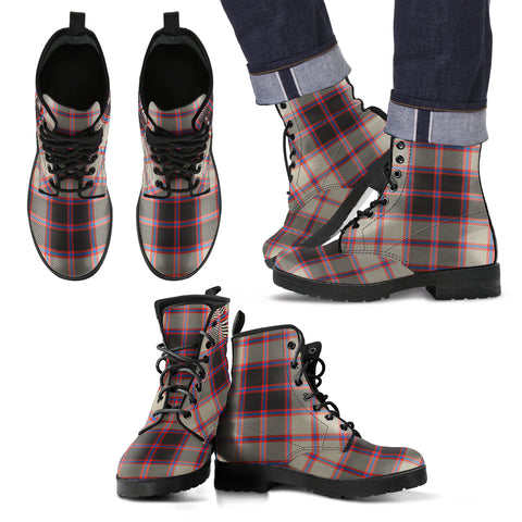 MacPherson Hunting Ancient Tartan Leather Boots Footwear Shoes