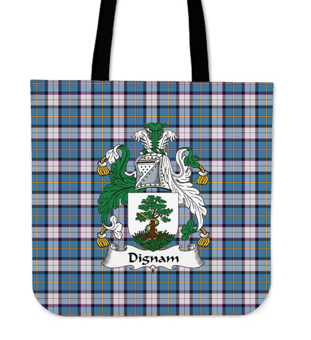 Tartan Tote Bag -  Dignan Clan Badge | Special Custom Design