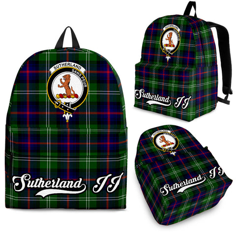 Image of Sutherland II Tartan Clan Backpack | Scottish Bag | Adults Backpacks & Bags