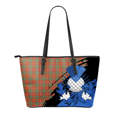 Bruce Ancient Leather Tote Bag Small | Tartan Bags