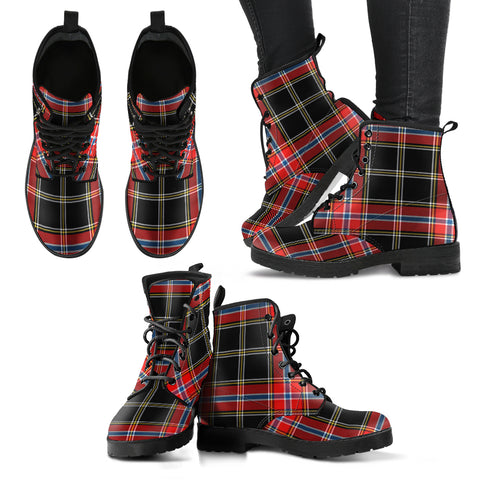 Norwegian Night Tartan Leather Boots A9