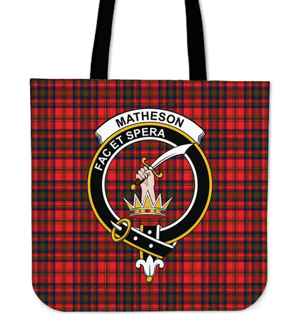 Tartan Tote Bag - Matheson Modern Clan Badge | Special Custom Design