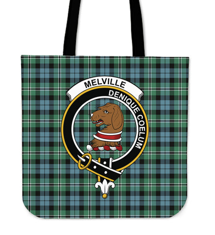 Tartan Tote Bag - Melville Clan Badge | Special Custom Design