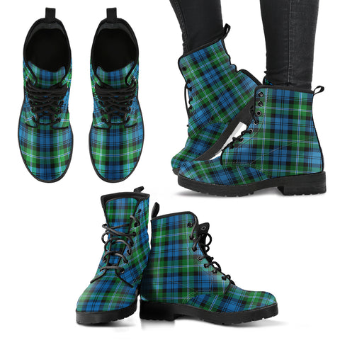 Lyon Clan Tartan Leather Boots A9
