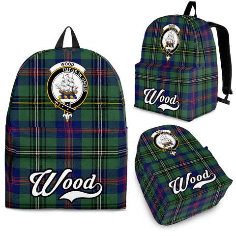Wood Tartan Clan Backpack | Scottish Bag | Adults Backpacks & Bags