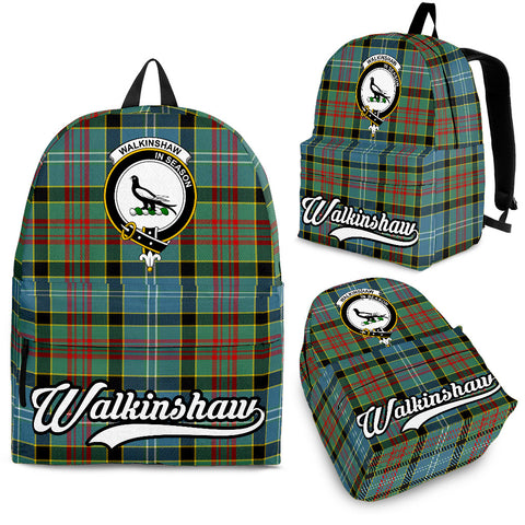 Image of Walkinshaw Tartan Clan Backpack | Scottish Bag | Adults Backpacks & Bags